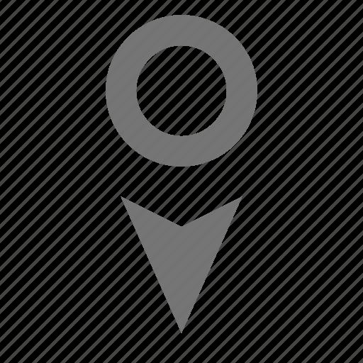 cursor, cursor down icon