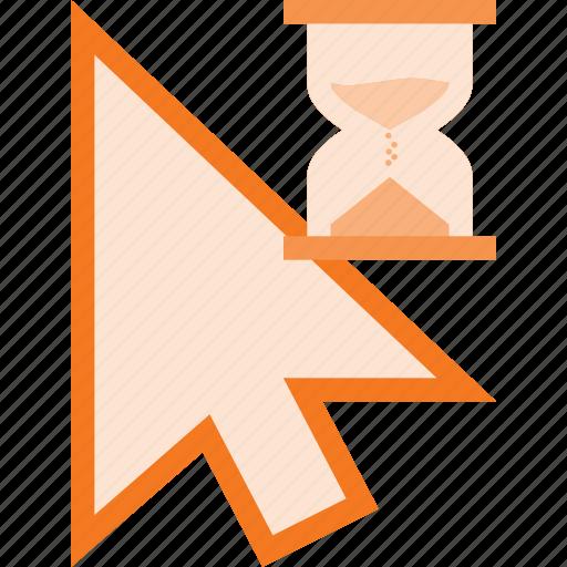 arrow, busy, cursor, mouse, pointer icon