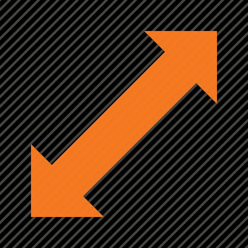cursor, diagonally, mouse, pointer, scale icon