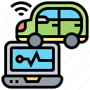 autonomous, autopilot, control, software, vehicle icon
