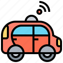 automated, autopilot, car, driverless, vehicle icon