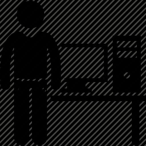 computer, entrepreneur, freelance, freelancer, programmer icon