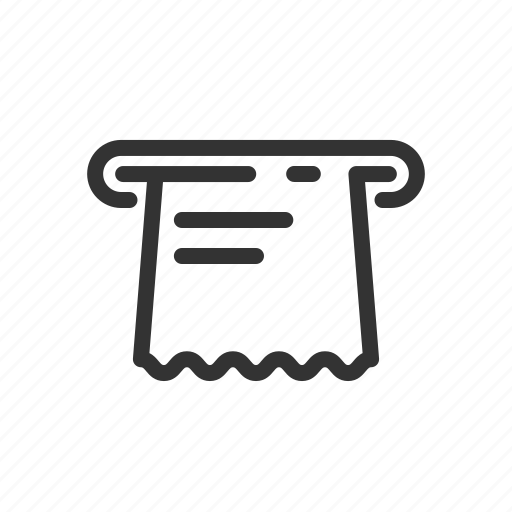 Atm, kiosk, receipt, self, service, terminal icon - Download on Iconfinder
