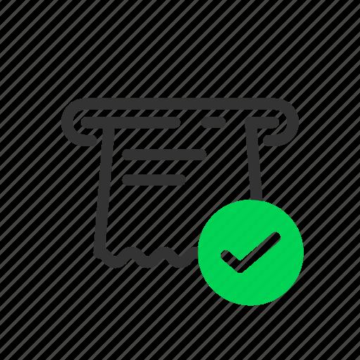 atm, kiosk, ok, receipt, self, service, terminal icon