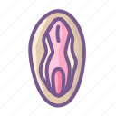 adult, erotic, sensual, sexual, vagina icon