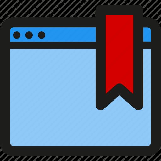 bookmark, coding, internet, mobile, seo, service, web icon