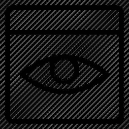 avatar, browser, eye, hosting, internet, web, window icon