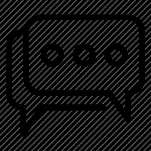 chat, comments, communication, conversation, dialogue, message, talk icon