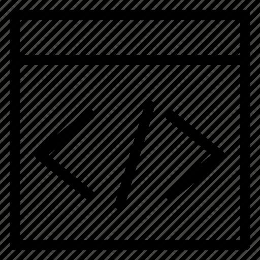 barcode, code, coding, developer, development, html icon