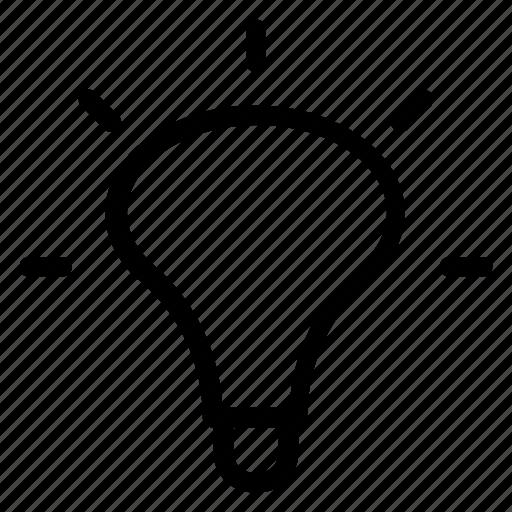bulb, creative, creativity, electric, idea, innovation, light icon