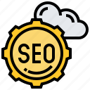 marketing, network, search, seo, website icon