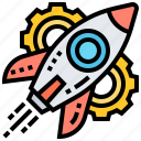 boost, launch, product, project, start icon