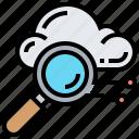 cloud, explore, hosting, search, service