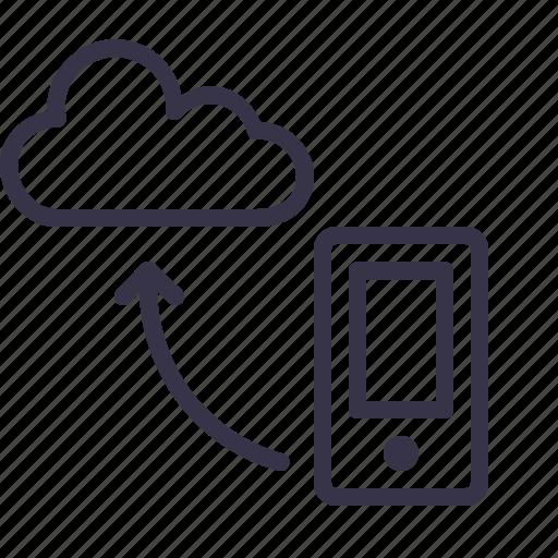 cloud, data, mobile, optimization, seo, synchronization, tool icon