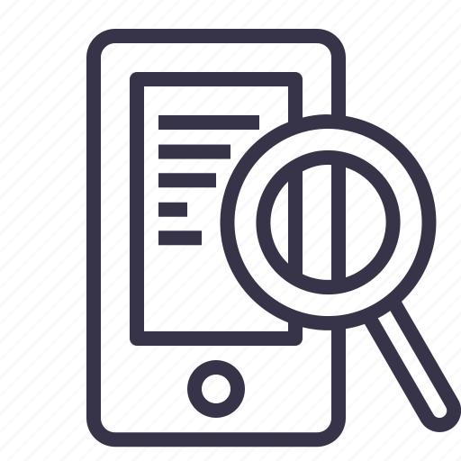 device, mobile, optimization, phone, search, seo, tool icon
