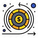 earnings, money, return, warranty icon