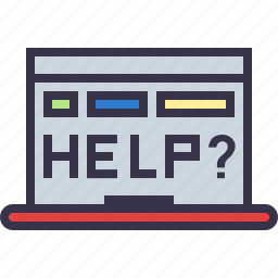 browser, device, error, help, laptop, rescue, window icon