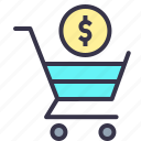 cart, currency, dollar, online, payment, shopping, trolly