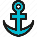 anchor, coding, internet, mobile, seo, web icon
