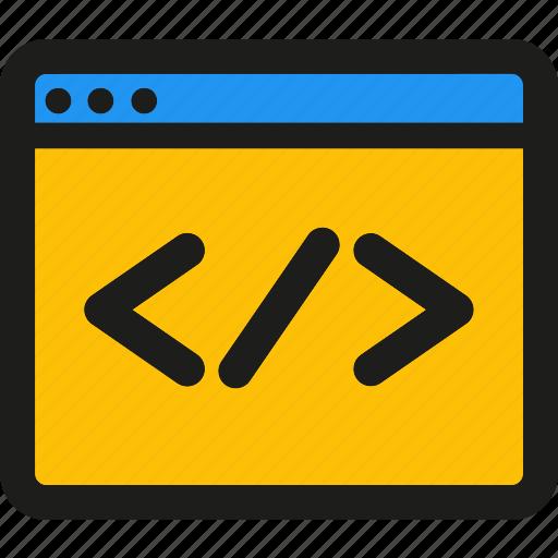 code, coding, custom, internet, mobile, seo, web icon