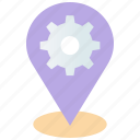 gps, location, location services, pointer, seo, settings icon