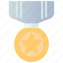 achievement, award, badge, reward, ribbon, star