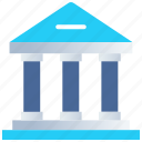 bank, banking, building, finance, investment, office icon