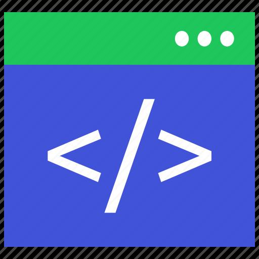 coding, console, development, program, script, website icon