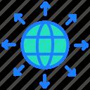 communication, connect, globe, internet, seo icon