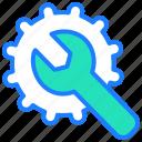 fix, optimization, repair, seo, settings, spanner, tools icon