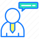 chat, communication, conversation, interaction, message, support, talk icon
