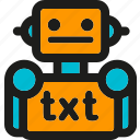 coding, internet, mobile, robots, seo, txt, web icon