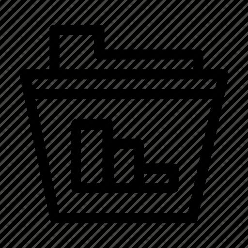 chart, diagram, file, folder, graph icon
