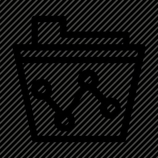 chart, file, folder, graph, seo icon