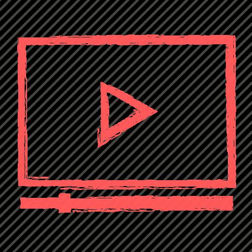 marketing, seo, video icon