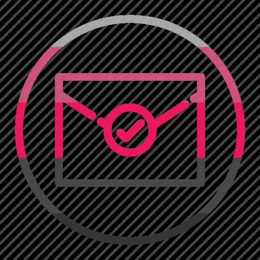 checkmark, envelope, ok icon