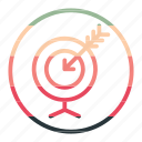 aim, arrow, goal, goalaimarrow icon