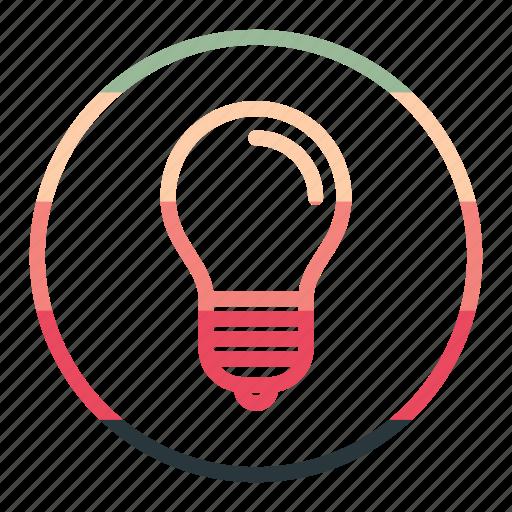 bulb, idea, lamp, light, seo icon