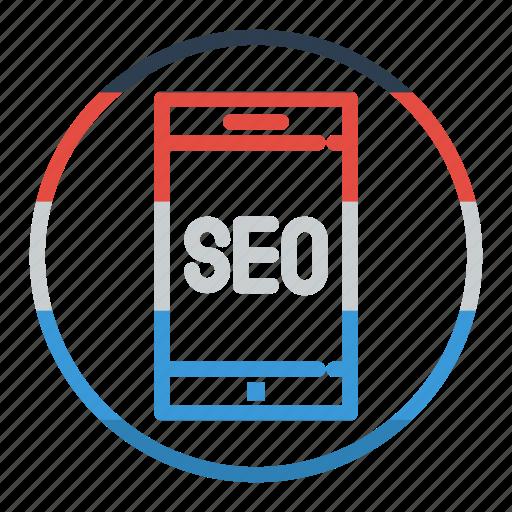 marketing, mobile, seo, smartphone icon