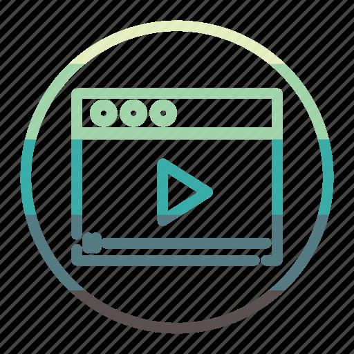 film, movie, page, video icon