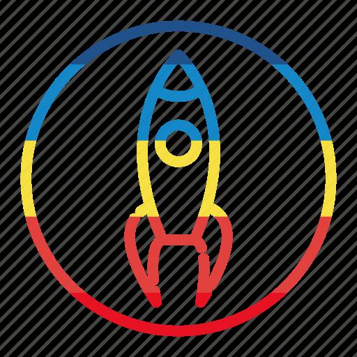 rocket, seo, space, startup icon