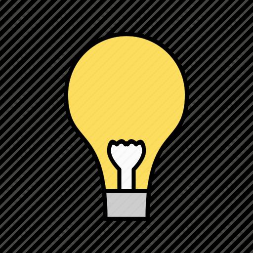 Bulb, light, lamp icon