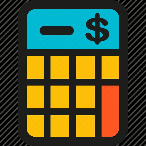 budget, calculator, coding, internet, mobile, seo, web icon