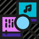 coding, internet, mobile, music, search, seo, web icon