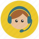 customer, headphone, headset, service icon