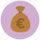 currency, euro, finance, money icon