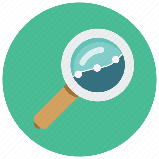 analytics, find, magnifier, search, specifics icon