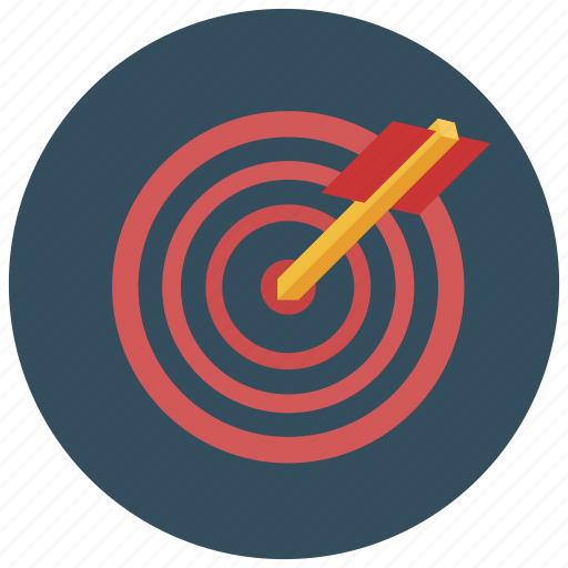 business, marketing, target icon