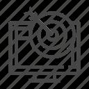 computer, marketing, monitor, seo, target icon