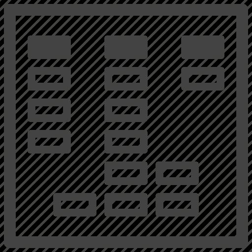 organize, scheme, sorting, usability icon
